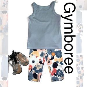 Gymboree Outfit - 2T Capri Leggings & Tank Top